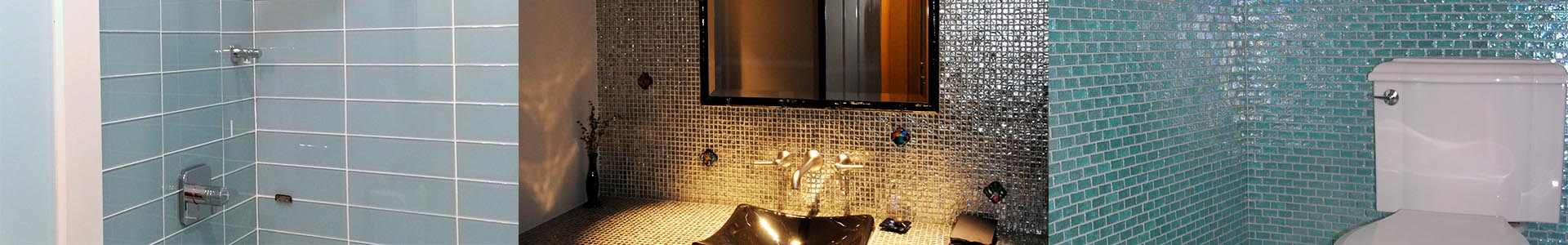Boutique style glass tile available at Caputo Design Stone & Tile in Raleigh, NC