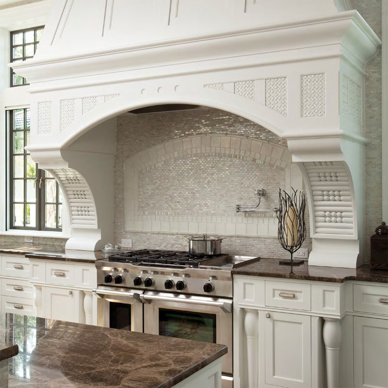 Unique Kitchen Tile design from Caputo Design Stone & Tile in Raleigh, NC