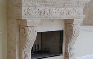 Carved mantels can be a great piece to accent your living space. Start planning yours at Caputo Design Stone & Tile in Raleigh, NC